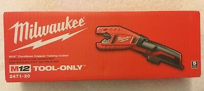 New Milwaukee 2471-20 M12 12V 12 Volt Cordless Copper Tubing Cutter New in Box