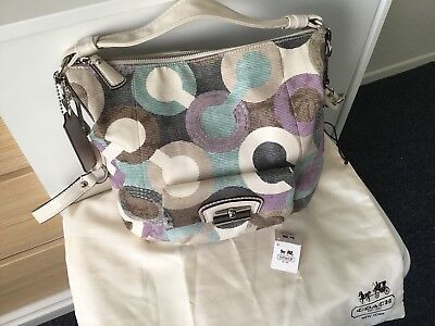 Authentic Coach Kristin Op Art Hobo Limited Edition Very Rare Bag 4f28ac3b97945
