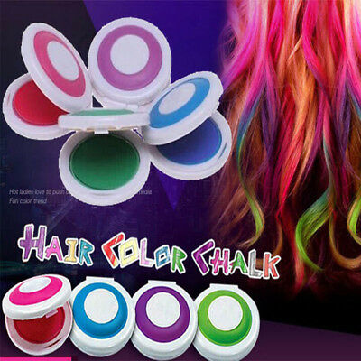 4Pcs/set Non-toxic DIY Temporary Hair Chalk Special Color Dye Pastels Salon Kit
