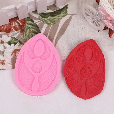 Meaningful 3D angel wing sharp cake fondant Mould tools Cookware Cake Decor  Z