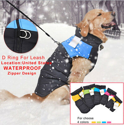 Mini Large Dog Cat Coat Waterproof Winter Warm Pets Clothes Jacket Vest Apparels