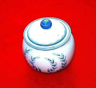 Deruta MARILYN Sugar Bowl W Lid Jar Ceramic Majolica 10oz