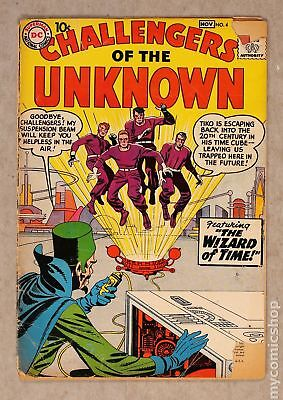 Challengers of the Unknown (DC 1st Series) #4 1958 GD- 1.8