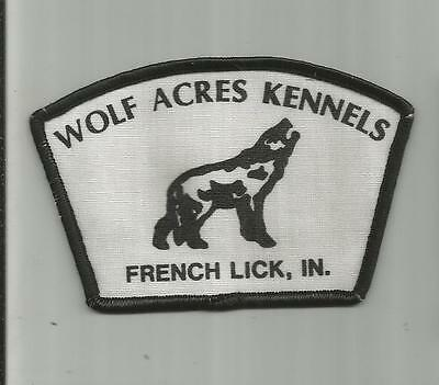 Vintage Wolf Acres Kennels French Lick Indiana In Wolf Dog Patch 4 1/8 Inch Wide