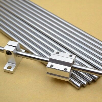 300-400mm Chromed Smooth Rod Steel Linear Rail Shaft 80mm For 3D printer Router