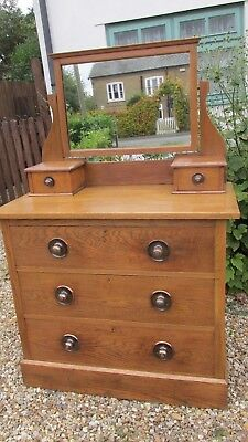 Antique golden oak chest of drawers arts and crafts Superb