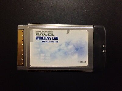 Excel WLB-1100 802.11b CardBus PCMCIA - Wireless Adapter - PC LAN Card