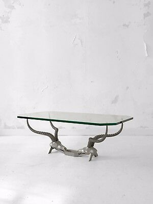 1990 DICKRAN FONDICA TABLE BASSE SCULPTURE MODERNISTE SHABBY-CHIC Pergay