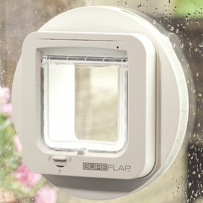 SureFlap Cat Flap Mounting Adaptor Suitable for Glass Doors Easy Install White