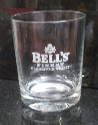 Bell's Finest Old Scotch Whisky Tumbler Glass Since 1825