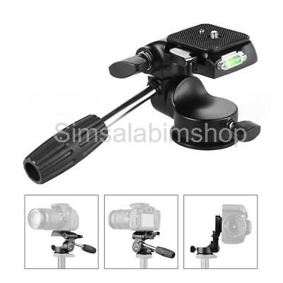 360 Degree Fluid Head Tripod w/ 1/4 inch QR Plate up to 7kg for Canon Nikon