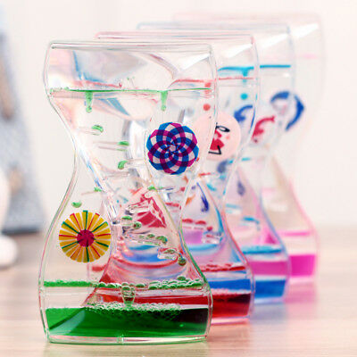 Floating Mix Illusion Liquid Motion Visual Slim Oil Hourglass Timer Ornament