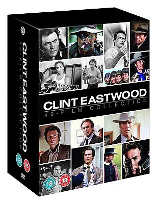 "Clint Eastwood 40 Films Collection 40 Discs Deluxe Dvd Box Set ""new&sealed"""