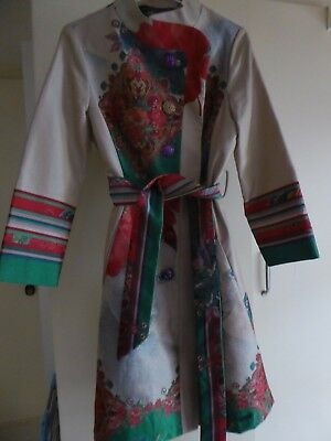 Desiguel Coat designed in Desiguel style, decorated material & buttons Size 12