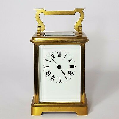 Antique Gilt Brass French Anglaise Cased Carriage Clock c.1885 - Exceptional