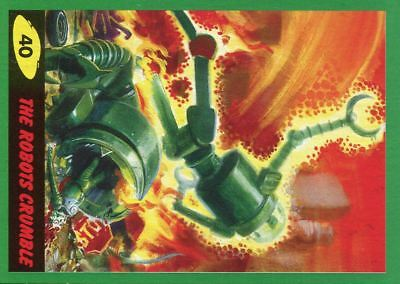 Mars Attacks The Revenge Green Base Card #40 The Robots Crumble