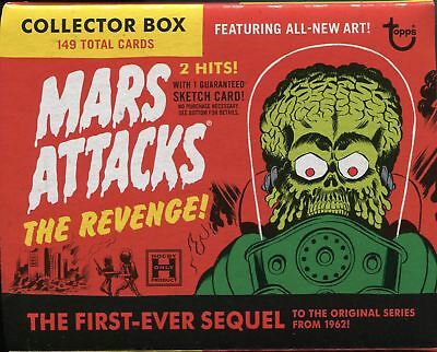 Mars Attacks The Revenge Special - 2 x 55 Card Base Sets [Color/Pencil] & Box