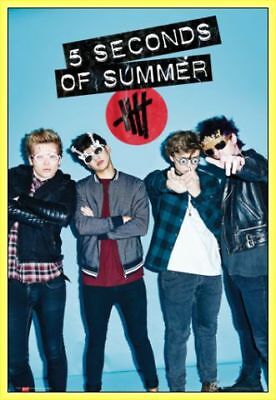 5 Seconds Of Summer Poster & Kunststoff-Rahmen Gelb (91x61cm) #AC5GK