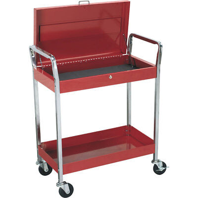 Sealey Heavy Duty 2 Level Trolley with Lockable Top Red