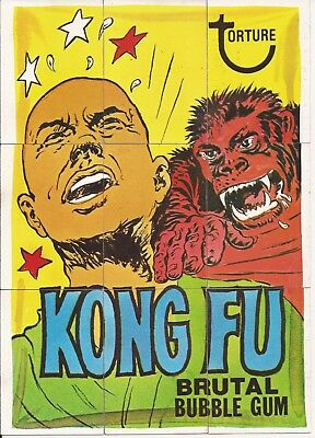 1974 Topps Wacky Packages KONG FU Puzzle 8th Series 8 Checklists UNMARKED