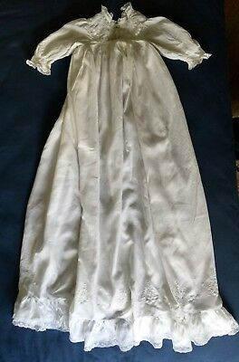 19th C. Embroidered and lace Christening Gown