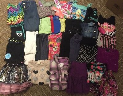 Girls lot of Fall/Winter/Spring/Summer clothes size 7/8 Small Justice Disney