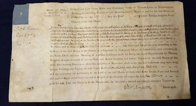 1777 Copyhold Deed Jane Alderson of Muker in Swaledale re Farm at Thornes