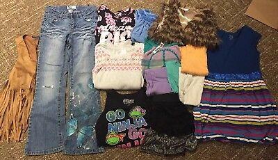 Girls lot of Fall/Winter/Spring/Summer clothes size 10/12 medium Justice +more