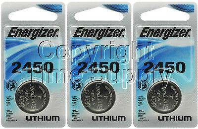 3 ENERGIZER 2450 Lithium Watch Batteries CR2450 EXPIRE 03-2025