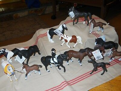 14 New Safari Ltd Toy Horses Collectable Clydesdale Foals Mare Shire Stallions +