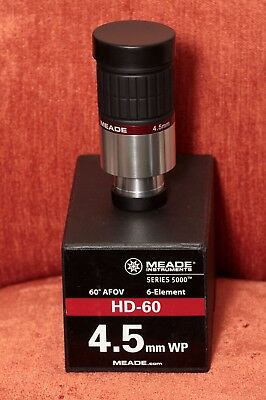 4.5 mm Meade Series 5000 HD-60 eyepiece - hardly used, with box - immaculate.