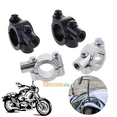 2pcs 25mm Motorcycle Handlebar Metal Rear View Mirror Mount Clamp Holder Adapter