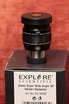 Explore Scientific ES68, 20 mm super wide angle eyepiece - immaculate condition