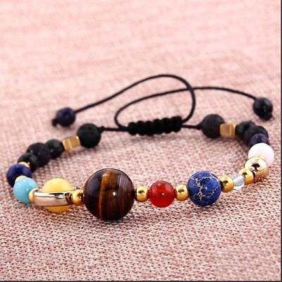 In The Solar System Guardian Star Gift Fashion Jewelry Bangle Beads Bracelet
