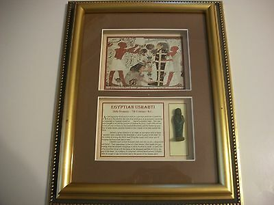 Egyptian Ushabti 7th century B.C. Framed