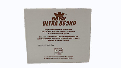 10 Pk Royal Ultra 865 HD NLGI #2 Calcium Sulfonate Grease 15 Oz  Tubes