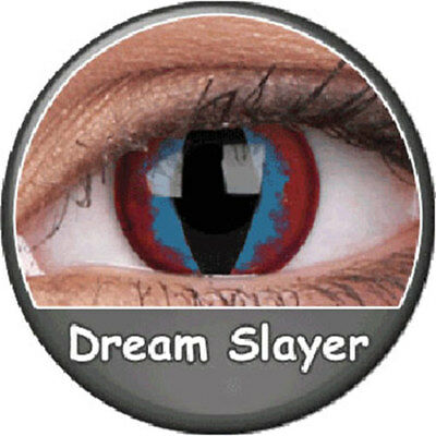 Lentilles dream slayer loup chat rouge et bleu phantasee (annuelles Phantasee