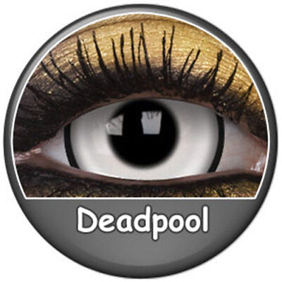 Lentilles deadpool phantasee blanches démon zombie 17mm par paire ( Phantasee