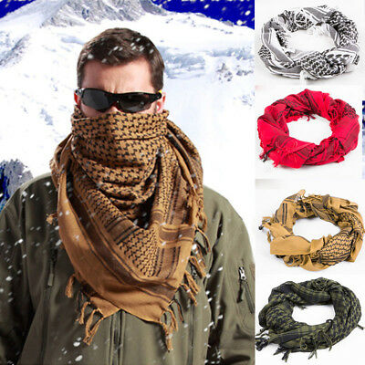 Men's Thick Cotton Muslim Hijab Tactical Military Desert Scarf Wind Protection