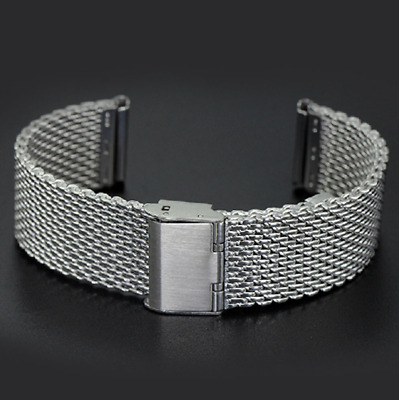 Stainless Steel Dive Shark Milanese Mesh Buckle 18 20 22 24 Mm Watch Strap Band