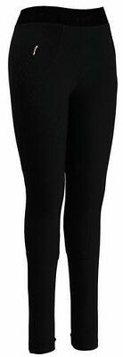 Tuffrider Women's Cotton Schoolers Knee Patch Riding Tights Pull-On