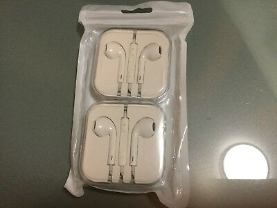 2 piece New ORIGINAL OEM APPLE earphones headphones with box ship from New York