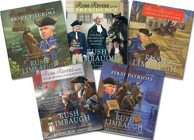 NEW Rush Revere 5 Audio CD SETs Complete Series Limbaugh Homeschool American