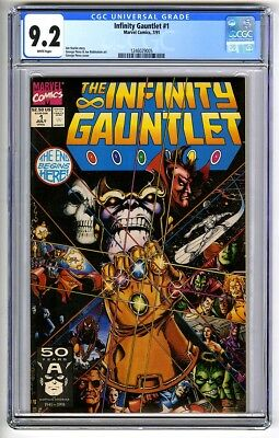 S723. INFINITY GAUNLET #1 Marvel Comics CGC 9.2 NM- (1991) THANOS Cover & Story