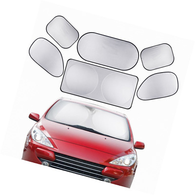 XPLUS 6Pcs All Car Glass Sunshade for Car Truck SUV Minivan - Include Windshield