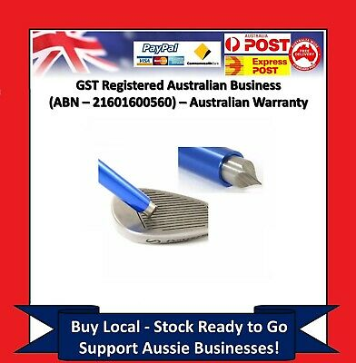 BLUE GOLF CLUB IRON WEDGE GROOVE GROOVER SHARPENER - For Driver Irons Hybrid