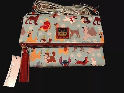 DISNEY DOGS Dooney and Bourke Foldover Crossbody Purse - NWT -SOLD OUT