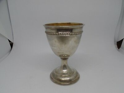Scandinavian 800 Silver Egg Cup with gold wash in bowl -15 grams