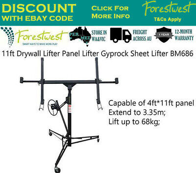 11ft 68kg Drywall Panel Lifter Gyprock Sheet Panel Lifter Plasterboard Lift