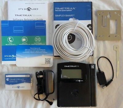Pyramid Time Systems TimeTrax EZ Swipe Card Time Clock System TTEZ $350